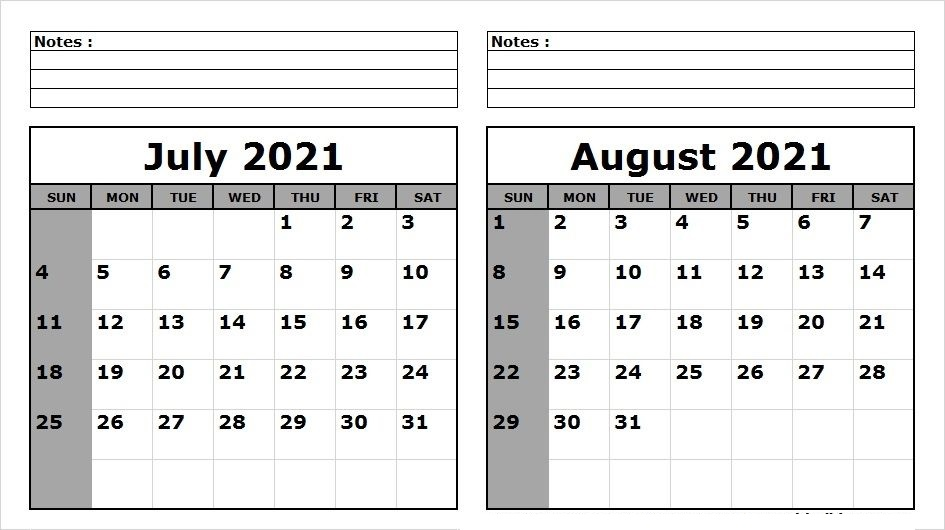 August 2021 Calendar With Holidays United States