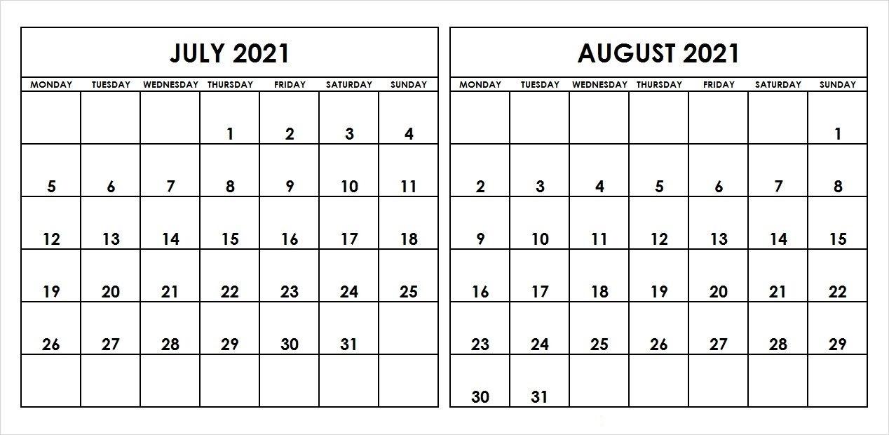 August 2021 Printable Calendar Wiki