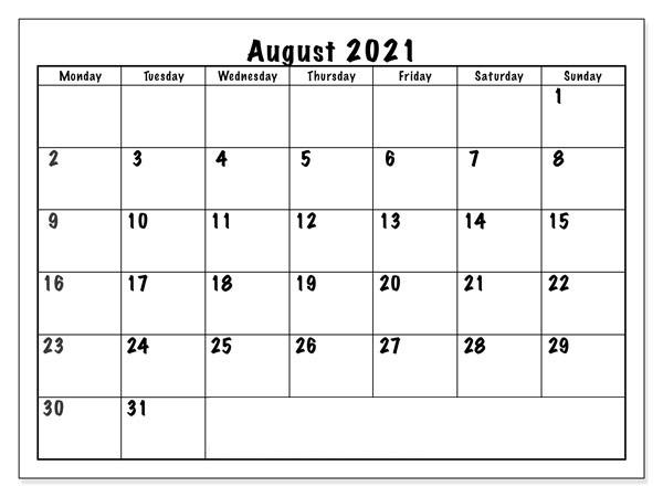 August 2021 Tamil Calendar