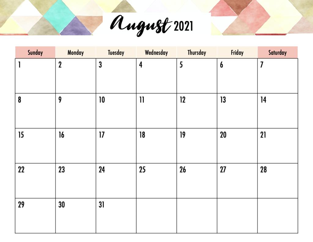 August Calendar 2021 Telugu