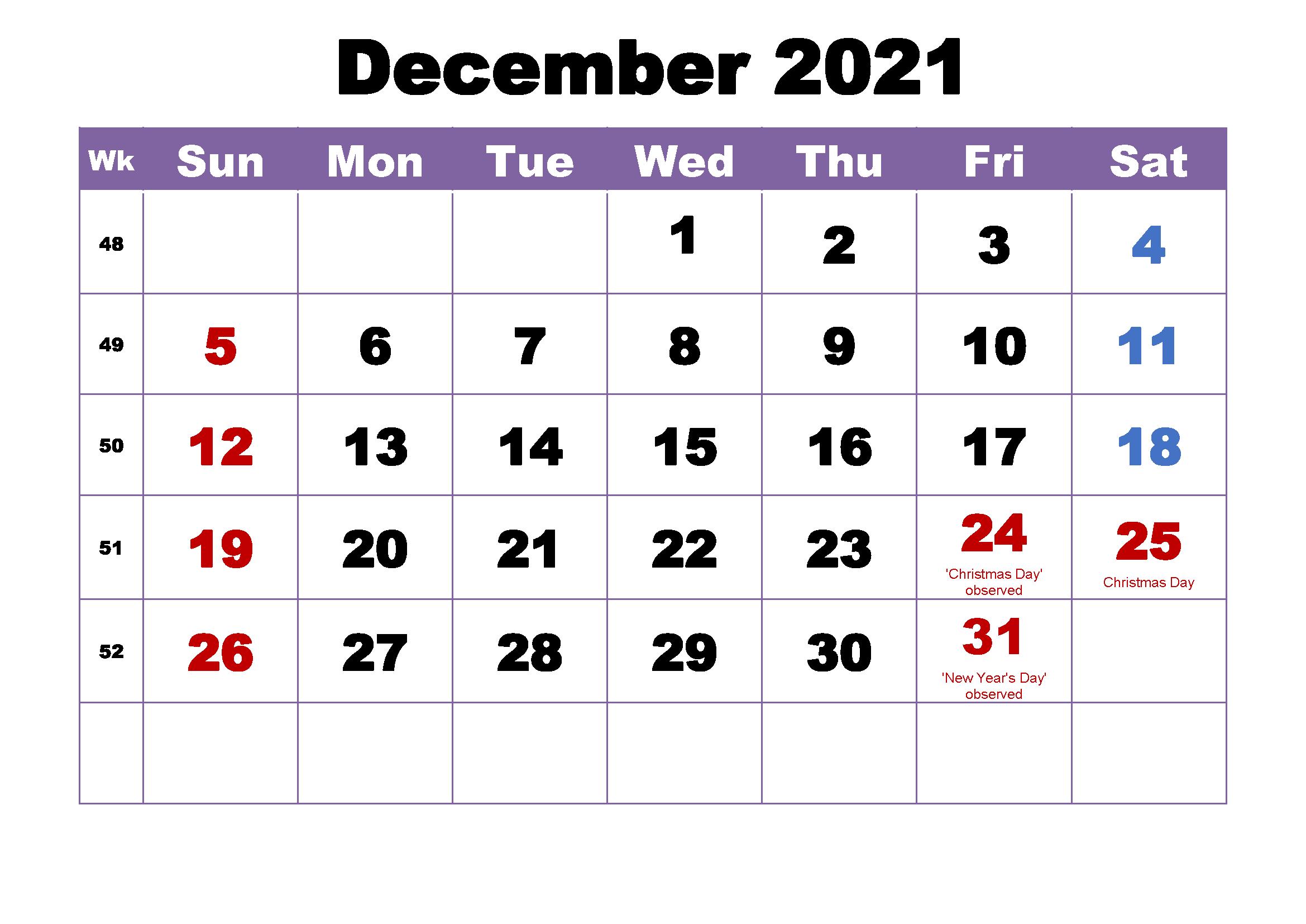 December 2021 Calendar Printable Reddit Reminder