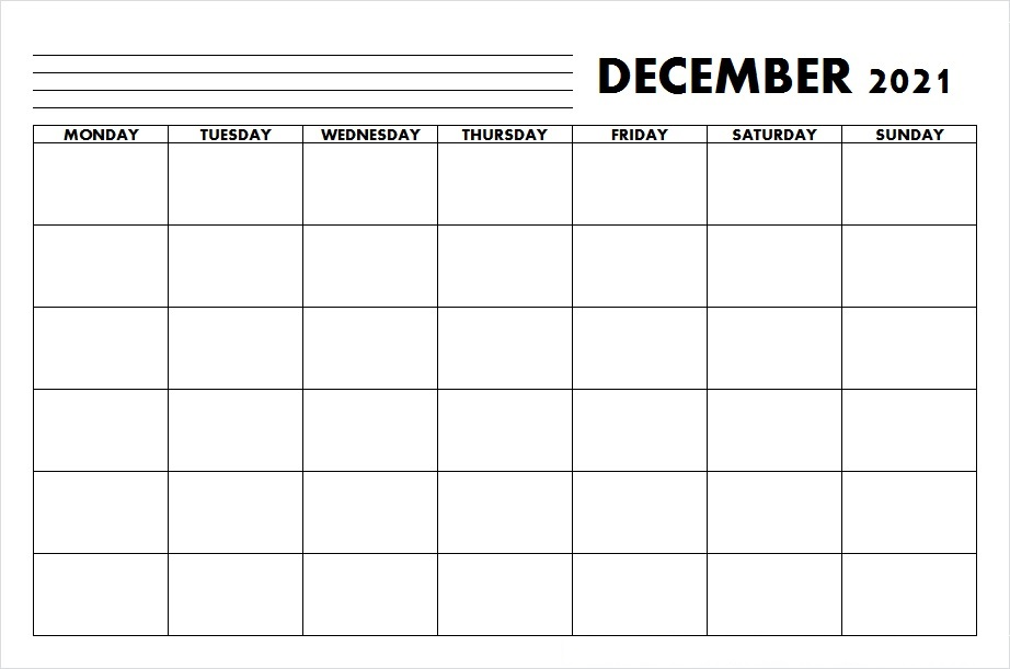December 2021 Calendar Printable Two Month Per Page