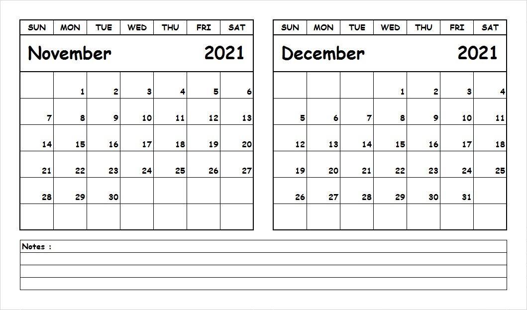 December 2021 Calendar Printable