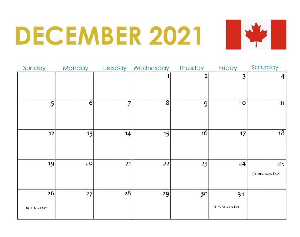 December 2021 Calendar With Holidays USA