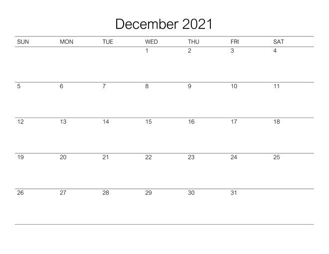 December Calendar 2021 With Holidays South Africa