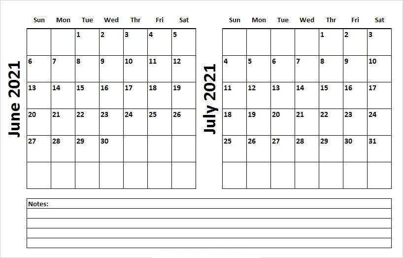 July 2021 Blank Muslim Calendar