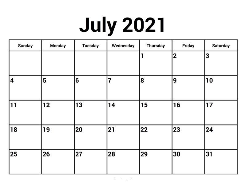 July 2021 Calendar Malayalam
