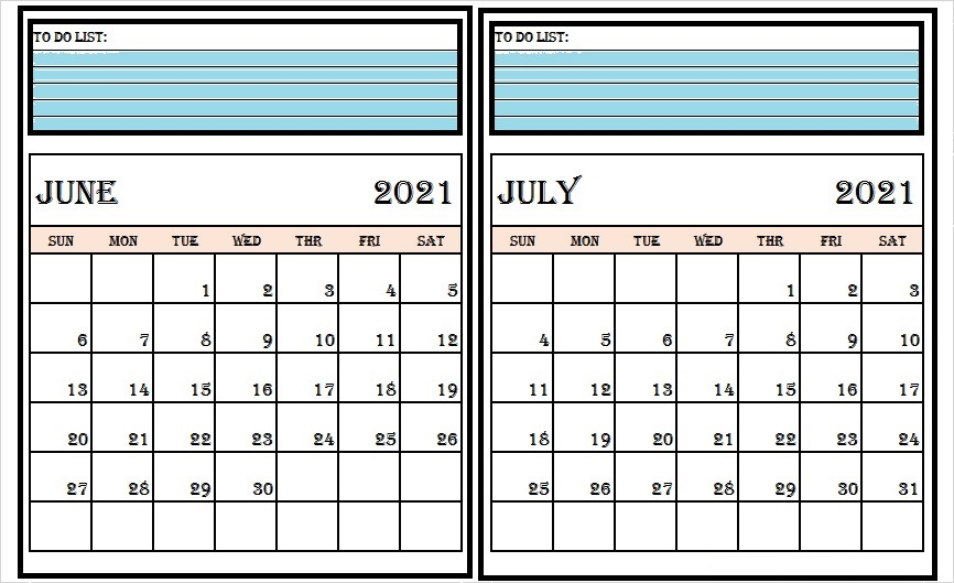 July 2021 Calendar Printable With Notes