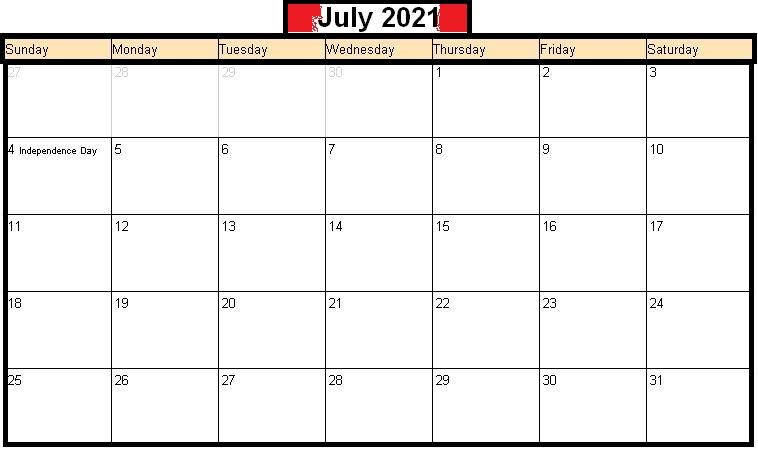 July 2021 Calendar Tamil