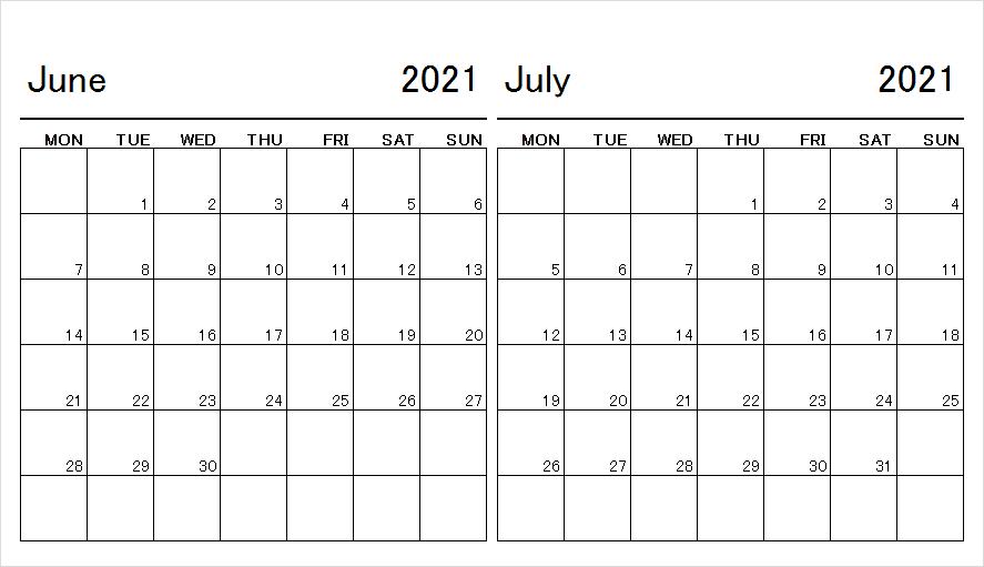 July 2021 Calendar Template Editable
