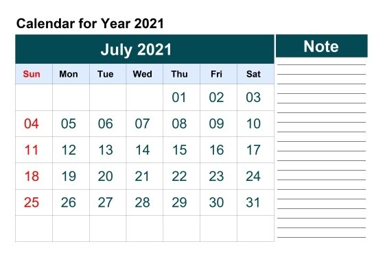 July 2021 Calendar With Holidays Canada
