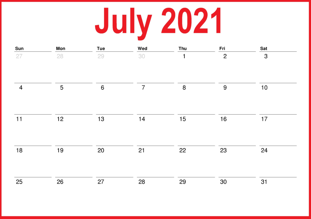 July 2021 Calendar With Holidays Philippines