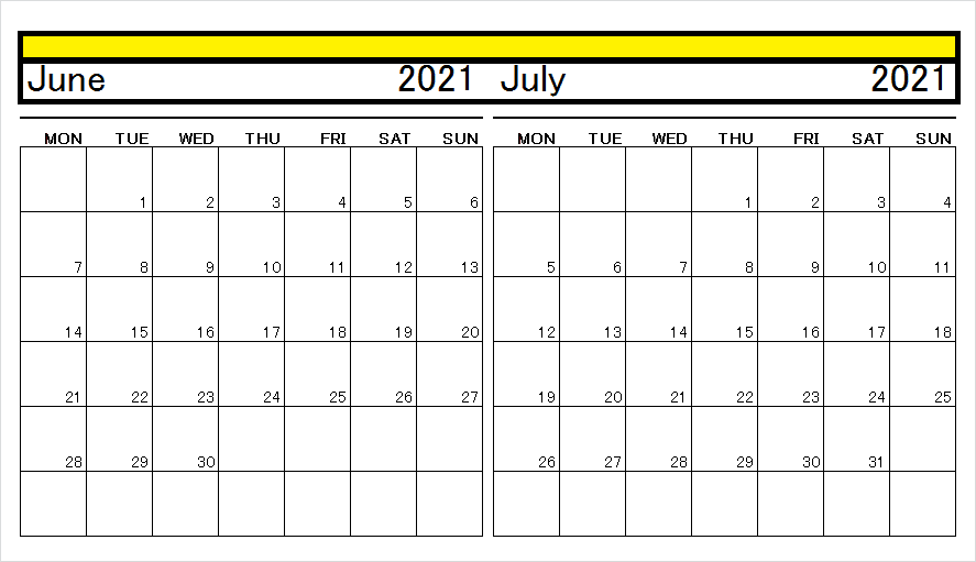 July 2021 Cute Calendar With Holidays