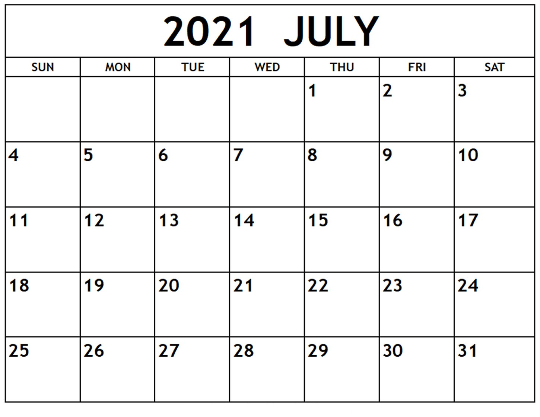 July 2021 Islamic Calendar