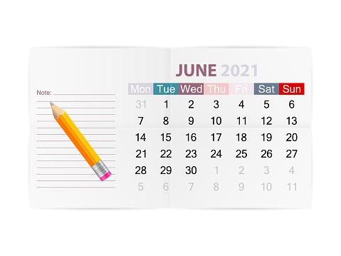 June 2021 Calendar Printable PDF