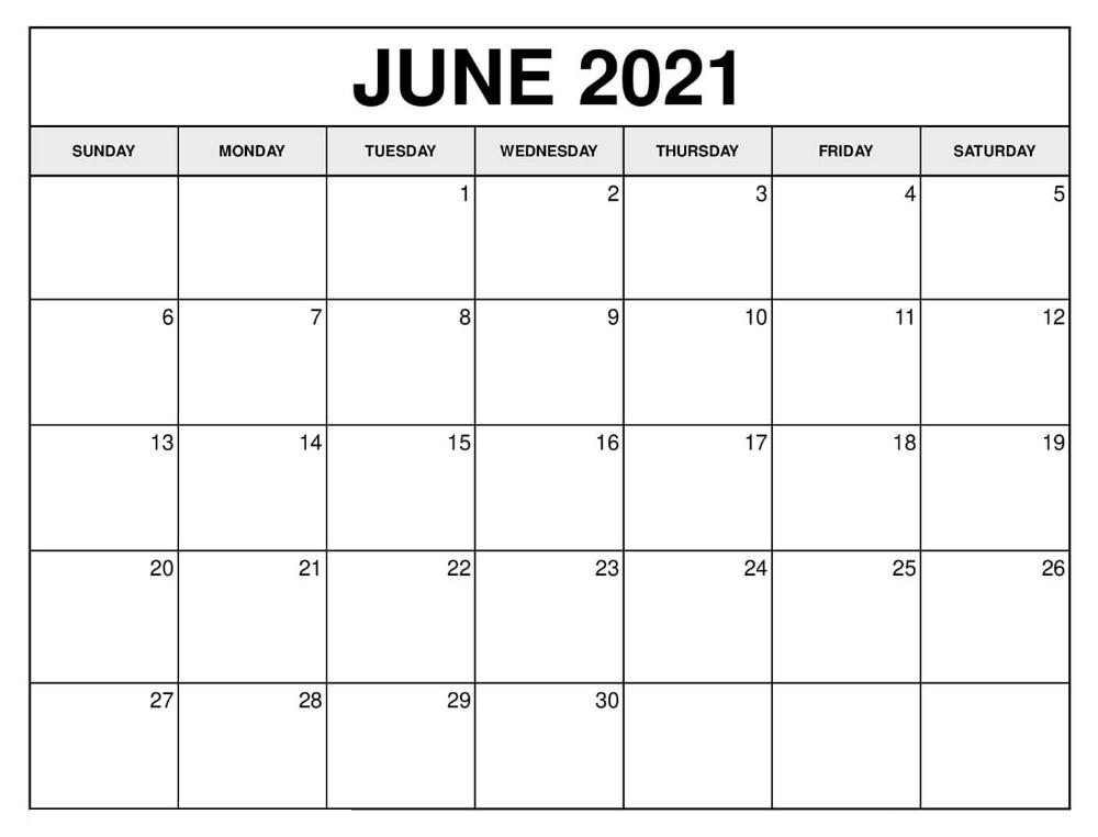 June 2021 Calendar With Holidays India