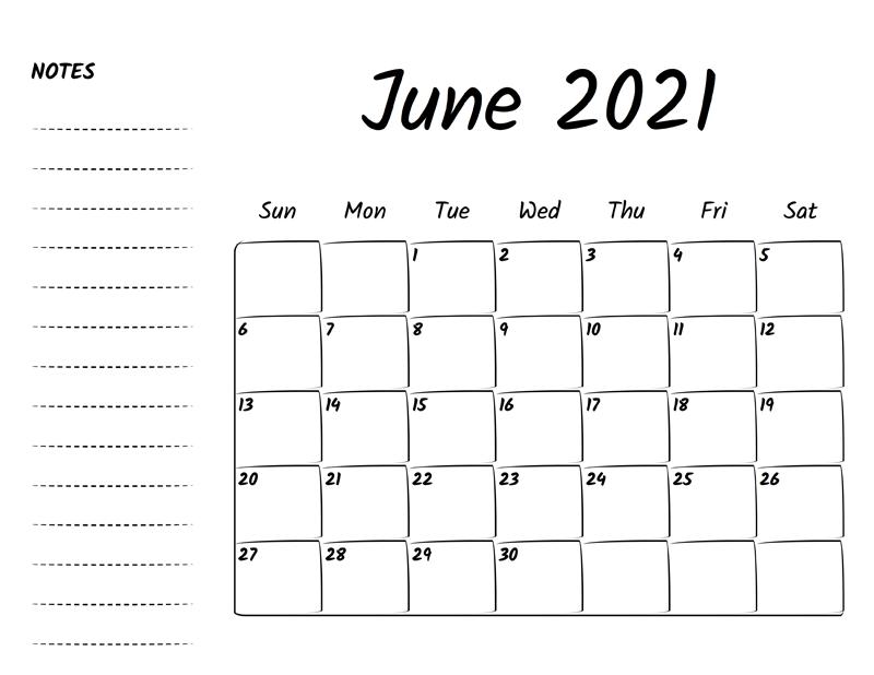 June Calendar 2021 Festival
