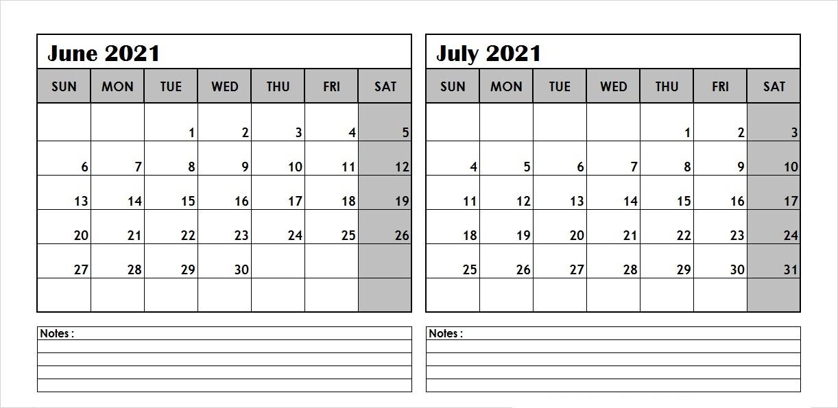 May June July 2021 Calendar Printable