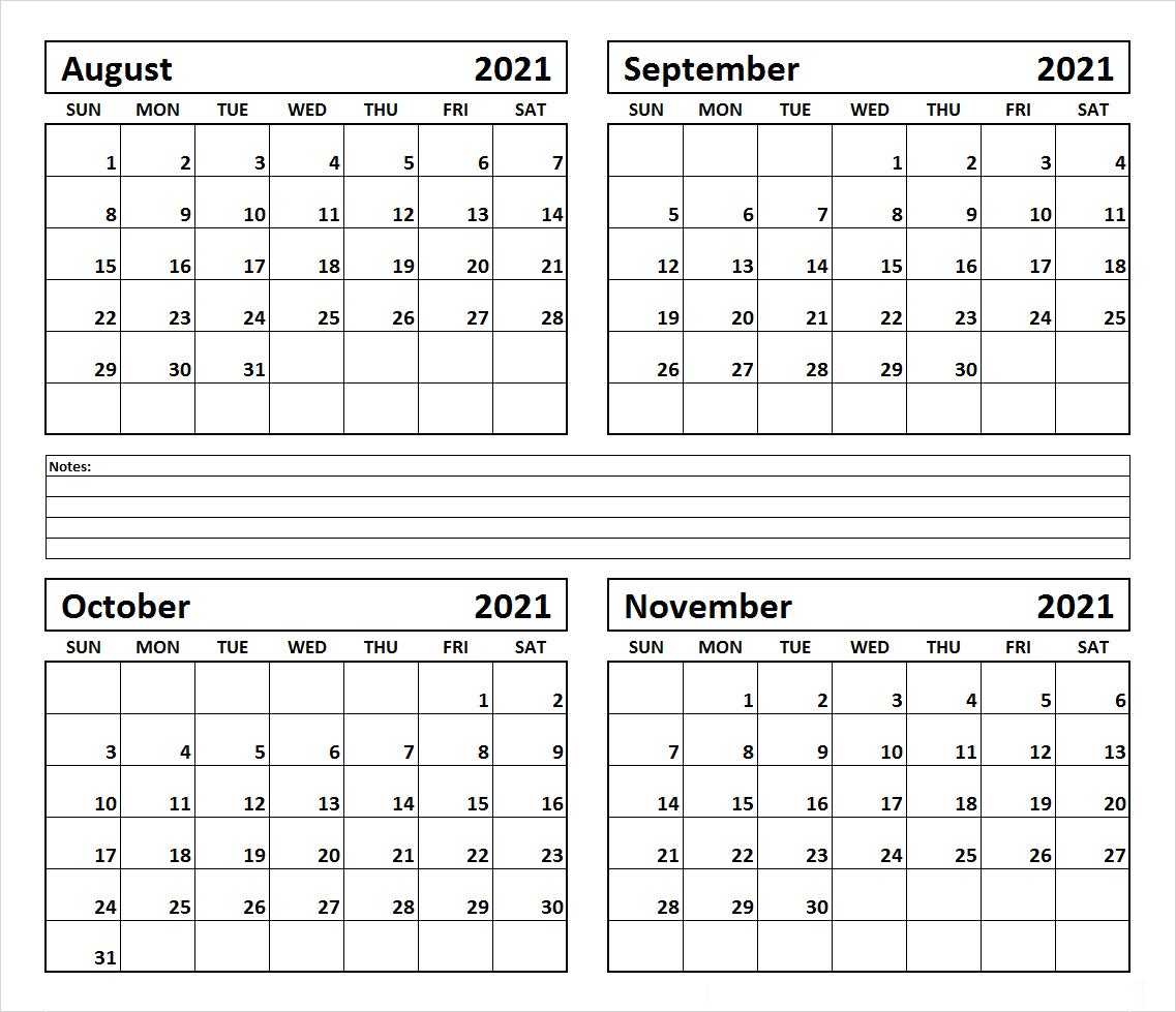 November 2021 Calendar Printable Vertical Version