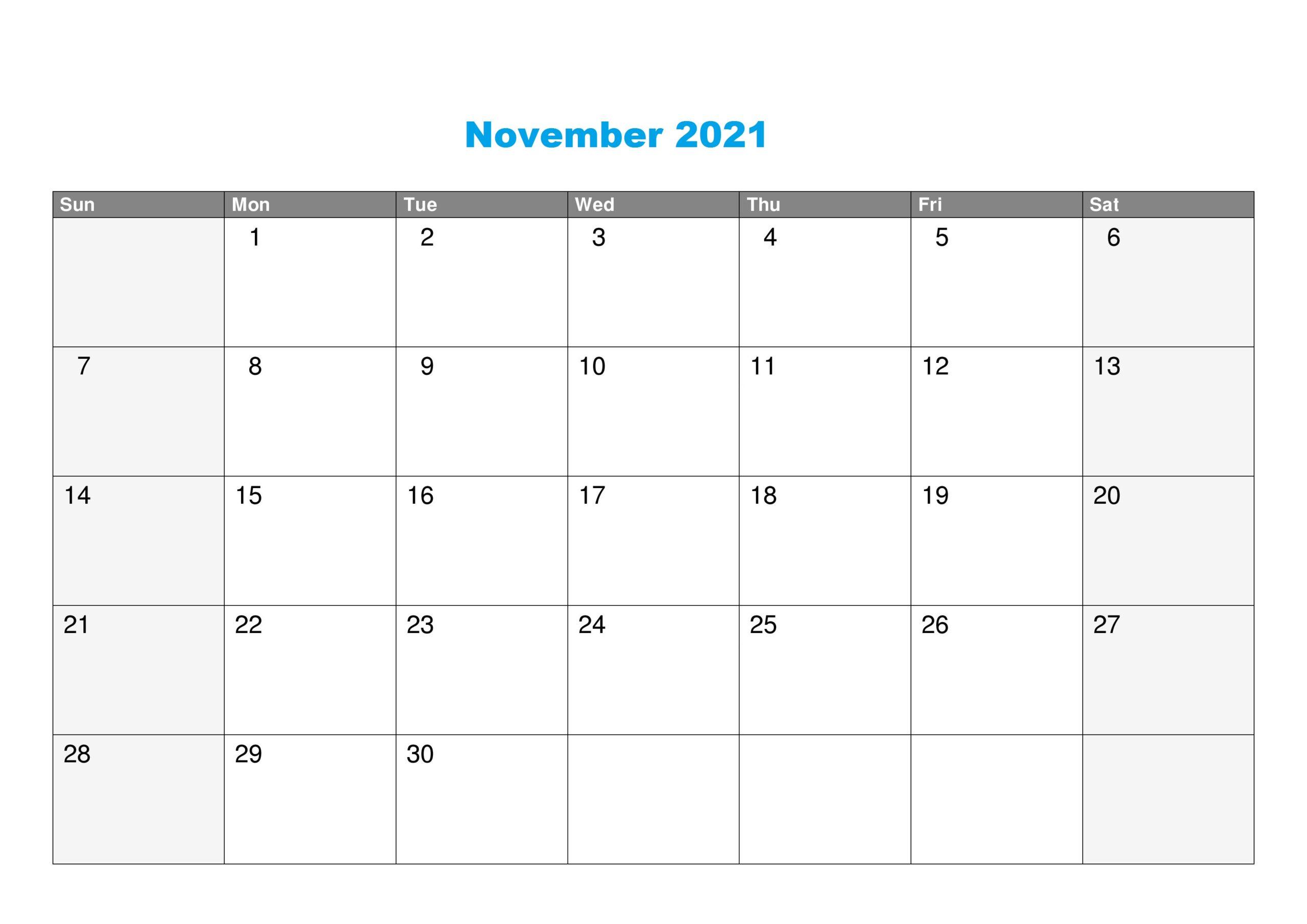 November 2021 Calendar Shadi Muhurat