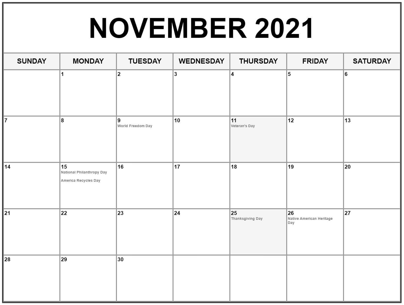 November 2021 Calendar Telugu