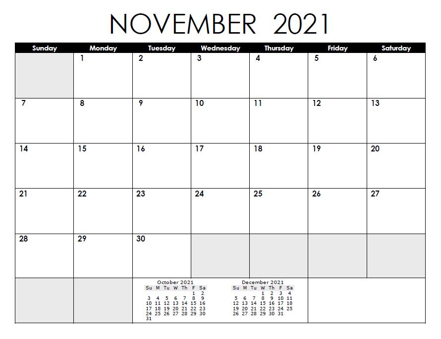 November 2021 Calendar With Holidays Philippines