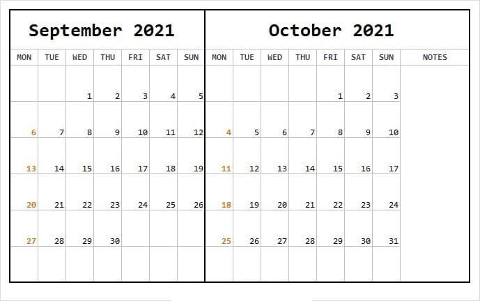 October 2021 Calendar Template Bootstrap Free