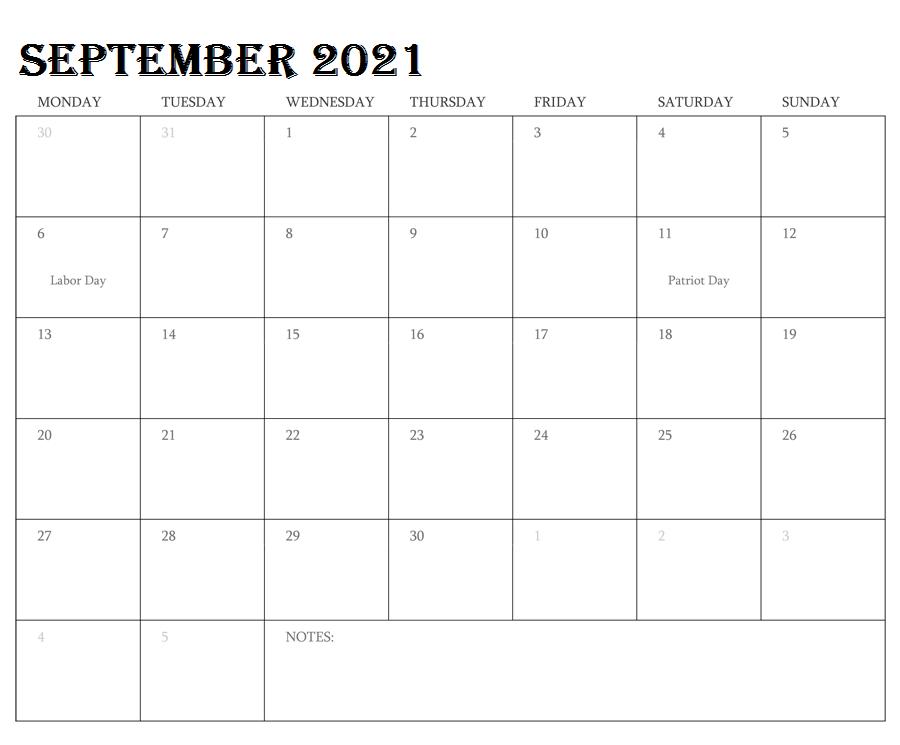 September 2021 Calendar Panchang