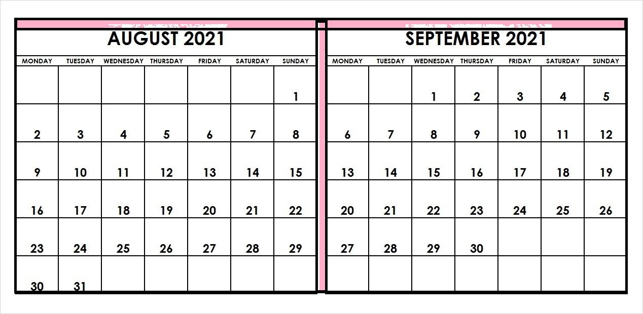 September 2021 Calendar Roster Template