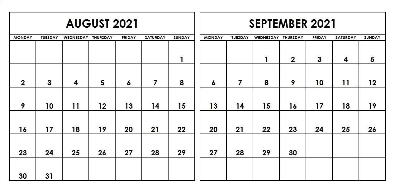 September 2021 Calendar Template Google Drive