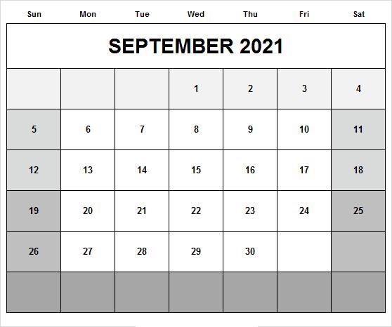 September 2021 Calendar With Holidays Canada