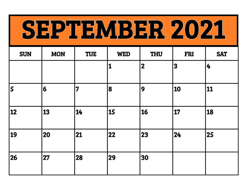 September Calendar 2021 Telugu