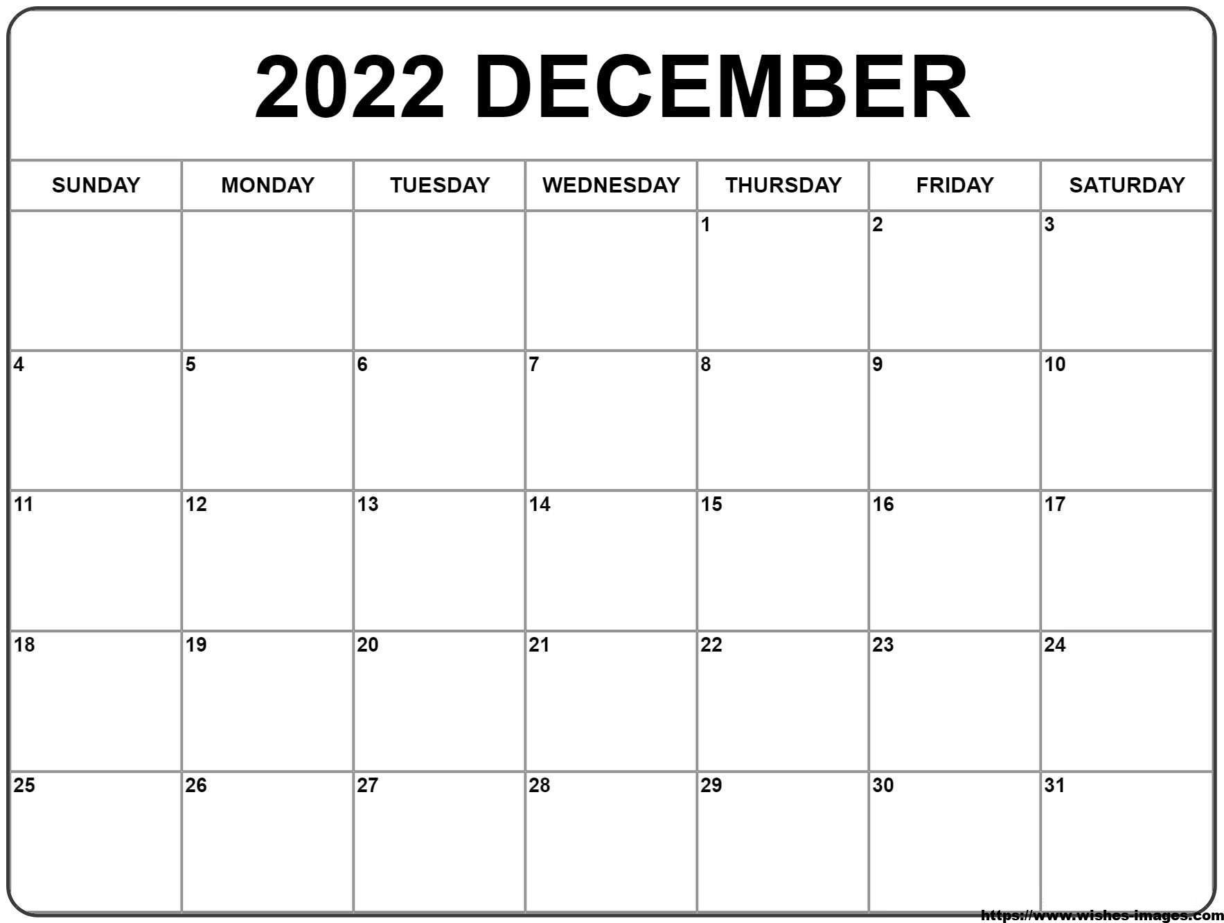 2022 Calendar Canada Printable