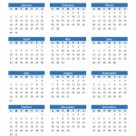 2022 Calendar Printable PDF Templates
