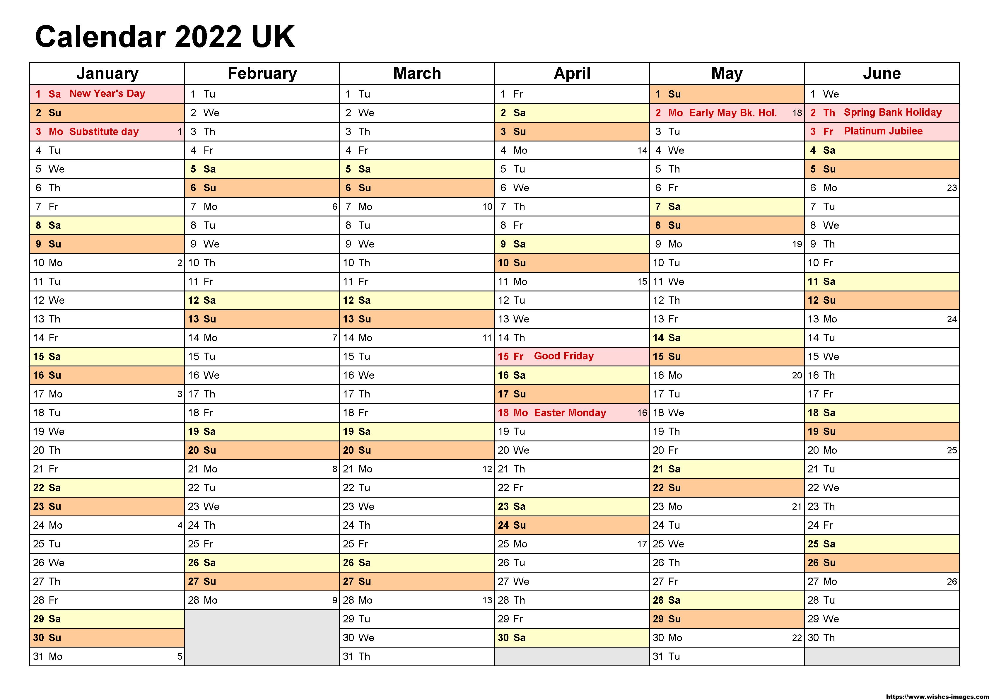 2022 Calendar Printable Australia