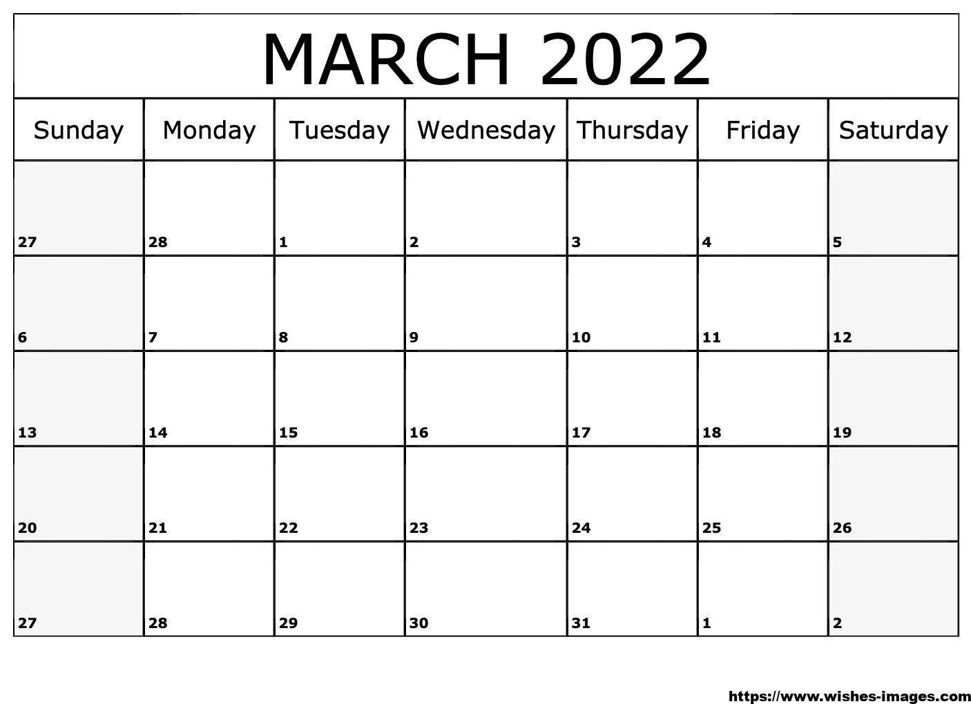 2022 Calendar Printable Cute