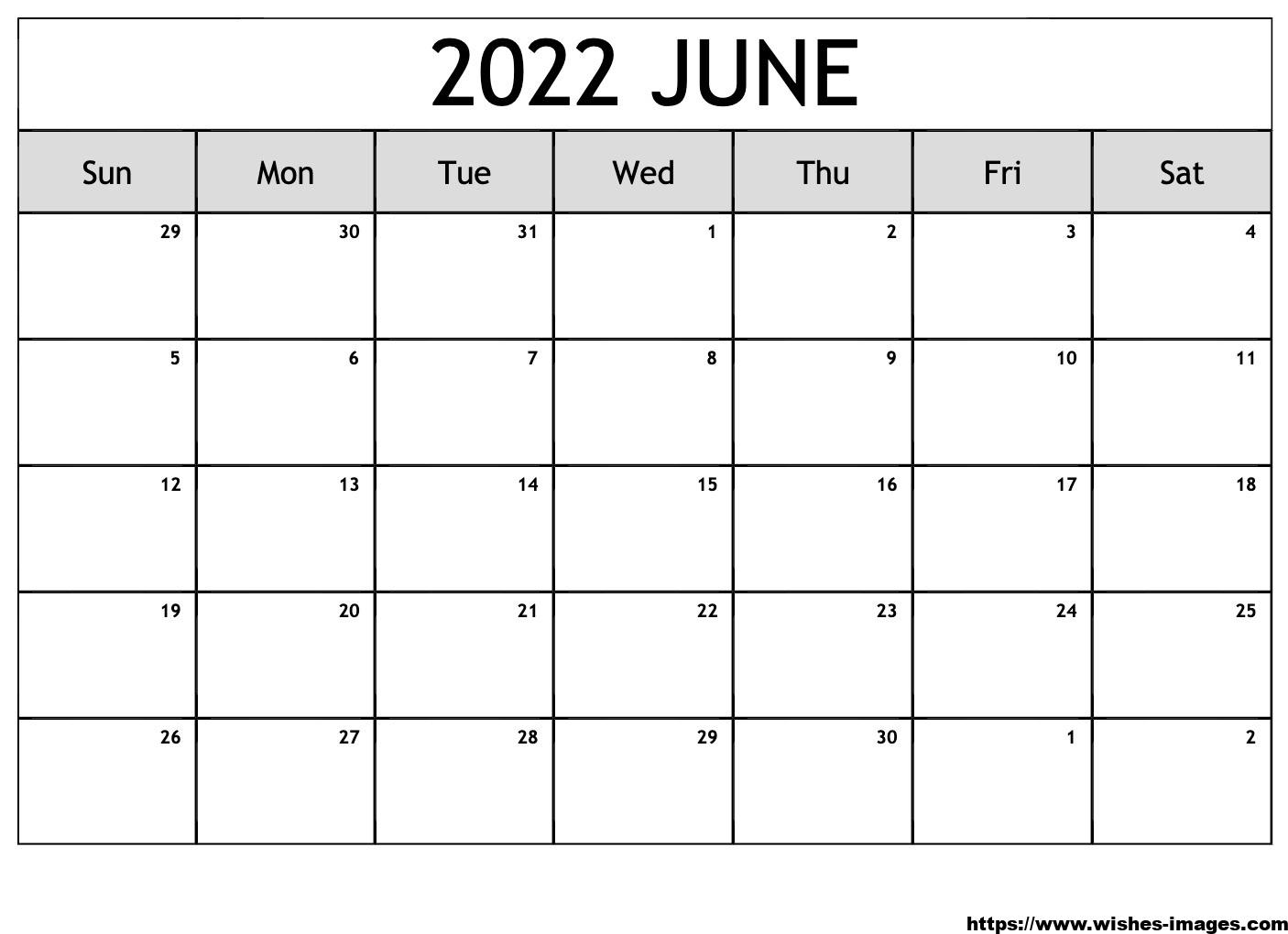 2022 Calendar Printable Monthly