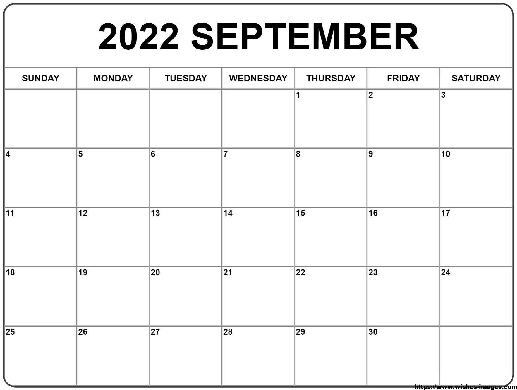 2022 Calendar Printable UK
