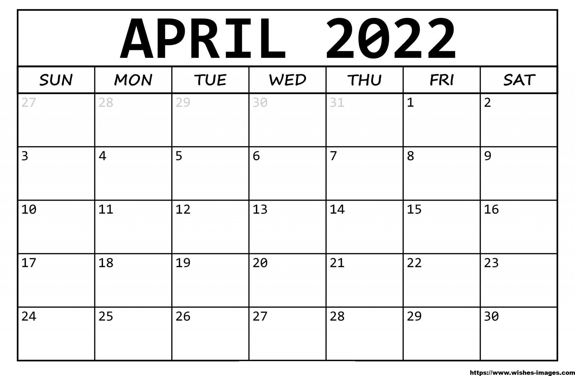 2022 Calendar Template Illustrator