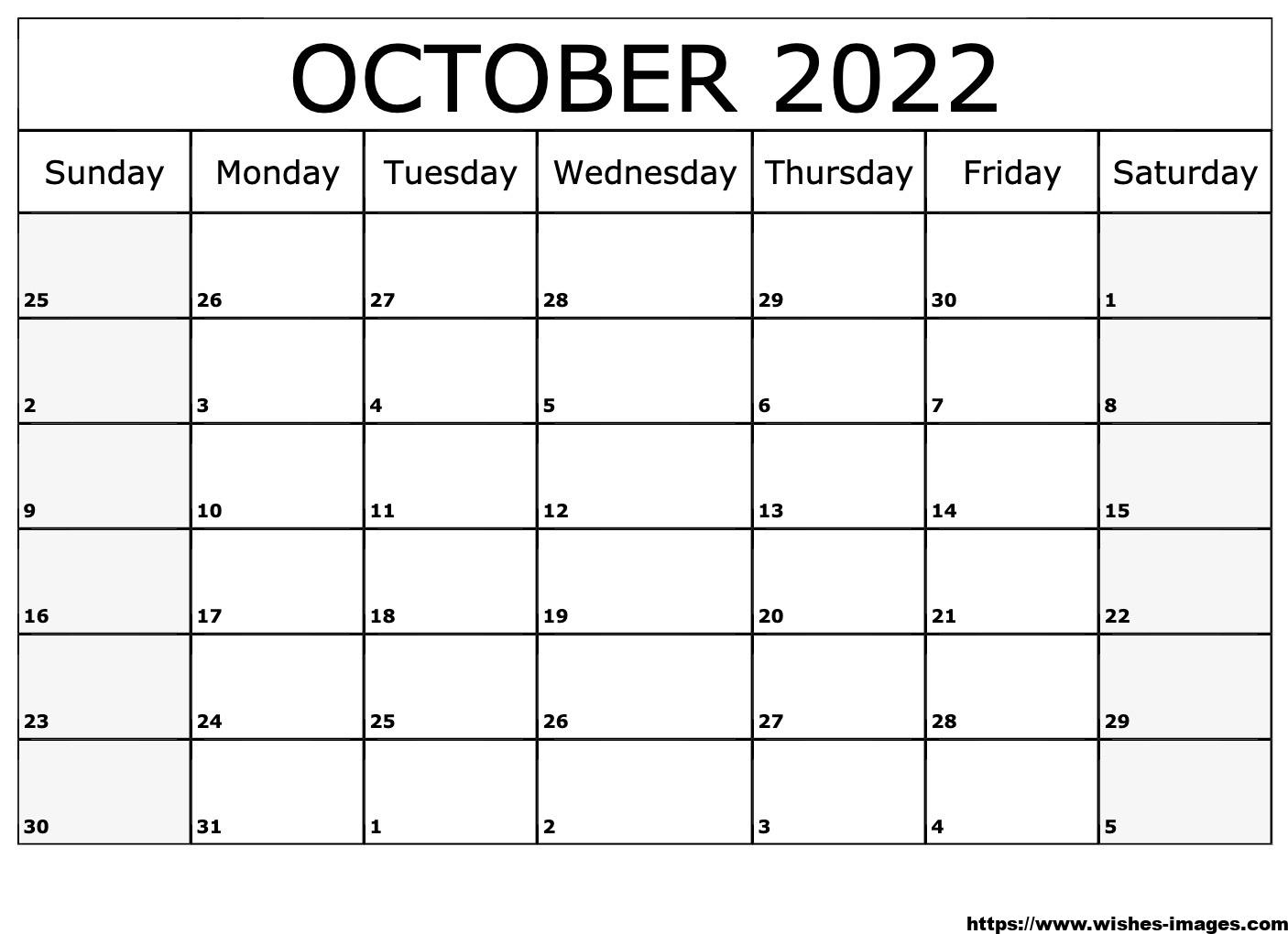 2022 Printable Calendar One Page Excel
