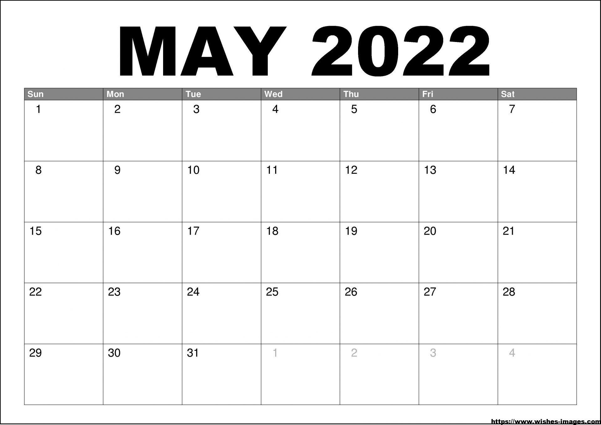 2022 Printable Calendar One Page PDF
