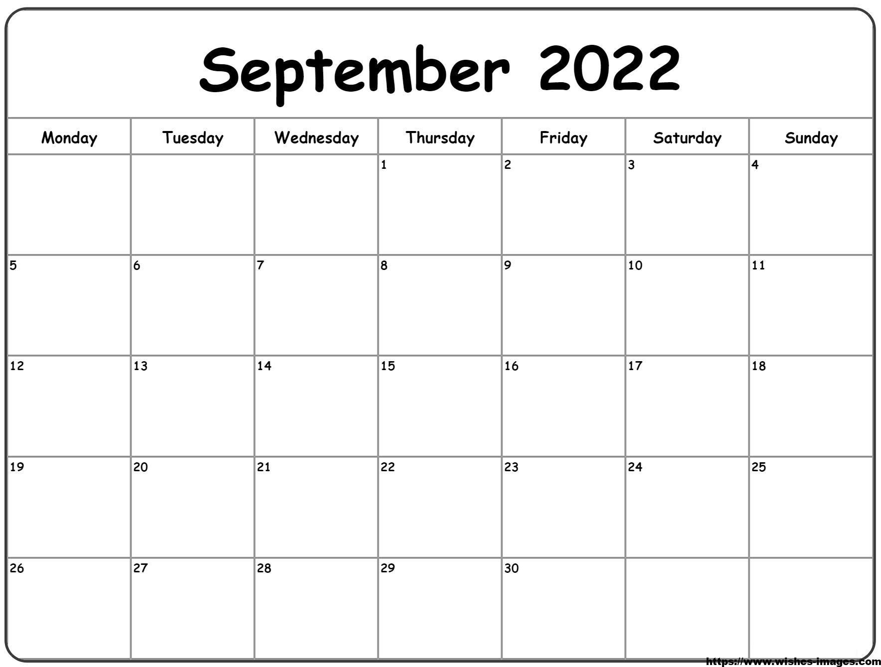 Printable 2022 Monthly Calendar